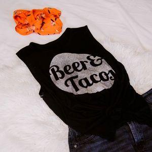 Tops - Beer & Tacos Tank Shirt | Size Medium